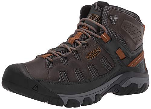 KEEN Men's Targhee Vent MID Hiking Boot, Raven/Bronze Brown