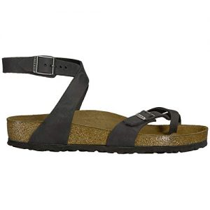 Birkenstock Women's Yara Birko Flor Patent Finish Sandals - Black
