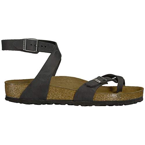 Birkenstock Women's Yara Birko Flor Patent Finish Sandals - Black