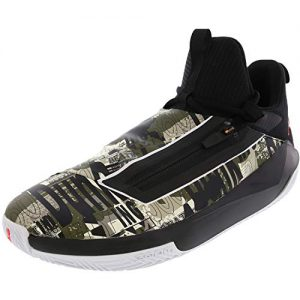 Nike Men's Jordan Jumpman Hustle Black/Infrared 23 Olive High-Top Suede