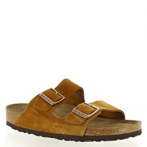 Birkenstock New Women's Arizona SF Slide Sandal Mink Suede