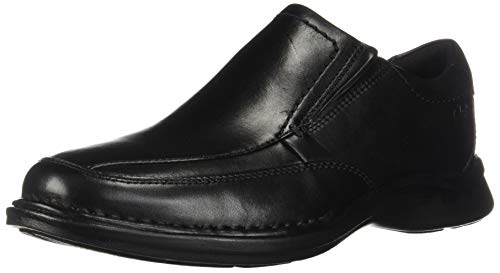 CLARKS Men's Kempton Free Loafer, Black Leather