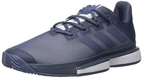 adidas Men's SoleMatch Bounce Tennis Shoe, tech Ink/White