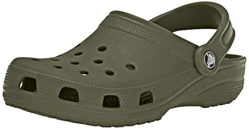 Crocs Classic Clog|Comfortable Slip On Casual Water Shoe, Army Green, 13 M US Women / 11 M US Men