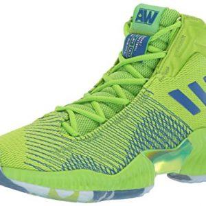 adidas Men's Pro Bounce 2018 Basketball Shoe, semi Solar Green/Collegiate