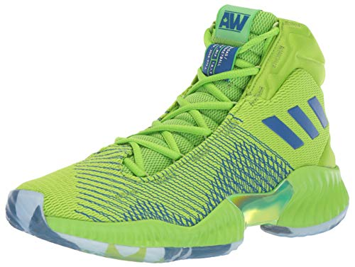 adidas Men's Pro Bounce 2018 Basketball Shoe, semi Solar Green/Collegiate