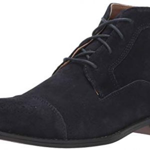 STACY ADAMS Men's Wexford Cap-Toe Chukka Boot, Navy