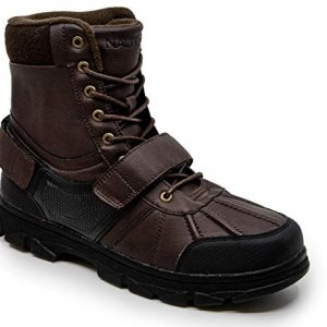 Nautica Men's Kressler Lace Up Adjustable Strap Winter Snow Boots Insulated