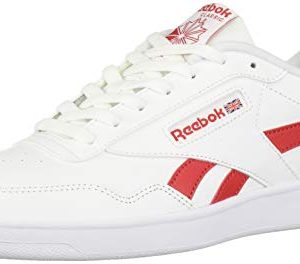 Reebok Men's Club MEMT Shoe, White/Rebel Red/White
