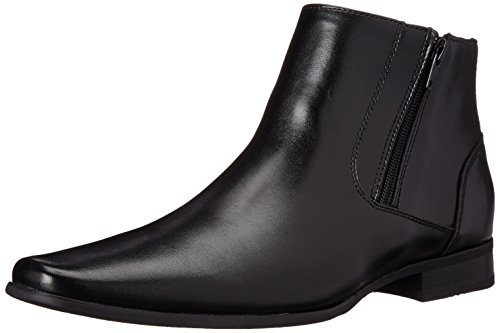 Calvin Klein mens Beck Ankle Bootie, Black Leather
