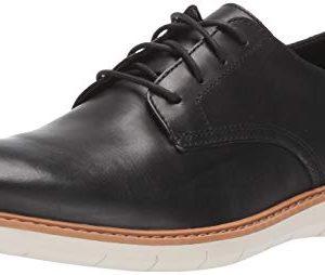 Clarks Men's Draper Lace Oxford, Black Leather