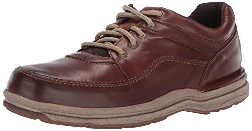 Rockport Men's World Tour Classic Walking Shoe, Brown Leather