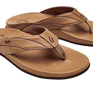 OLUKAI Men's Pikoi Sandal, Golden Sand/Golden Sand
