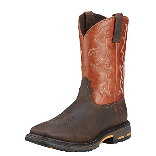 ARIAT Men's Workhog Western Work Boot Soft Square Toe Brown