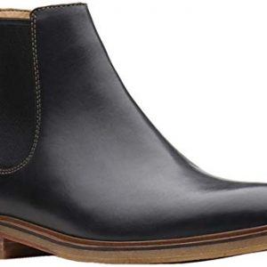 Clarks Men's Clarkdale Gobi Chelsea Boot, Black Leather