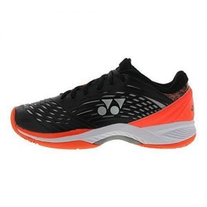 YONEX Power Cushion Fusion Rev 2 Clay Mens Tennis Shoe - Black/Orange