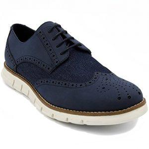Nautica Men's Wingdeck Oxford Shoe Fashion Sneaker Navy Denim