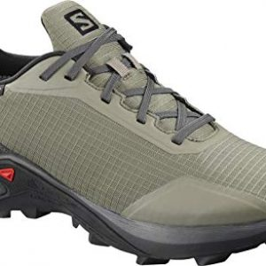 Salomon Men's Alphacross GTX Trail Running Shoes, Castor Gray/Ebony/Black