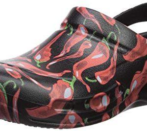 Crocs Unisex-adult Bistro Peppers Clog, black/red