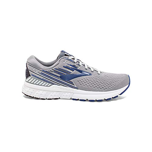 Brooks Mens Adrenaline GTS 19 Running Shoe - Grey/Blue/Ebony Brooks Mens Adrenaline GTS 19 Running Shoe - Grey/Blue/Ebony - D - 10.5.