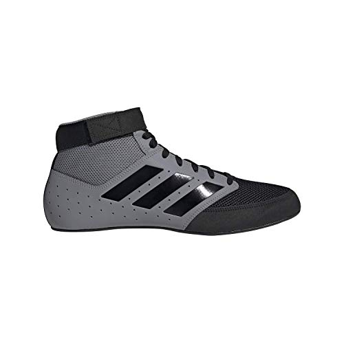 adidas Men's Mat Hog 2.0 Wrestling Shoe, Grey/Black/White