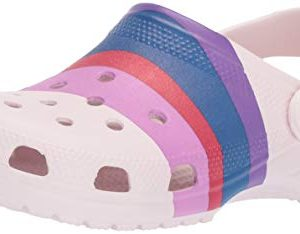 Crocs Classic Graphic Clog, barely pink/multi, 6 US Men/ 8 US Women