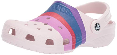 Crocs Classic Graphic Clog, barely pink/multi, 6 US Men/ 8 US Women