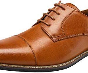 JOUSEN Men's Dress Shoes Cap Toe Oxford Classic Formal Derby Shoes