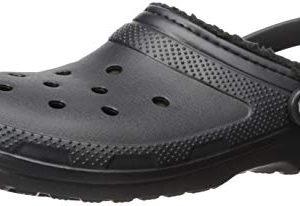 Crocs Classic Lined Clog Mule, Black/Black