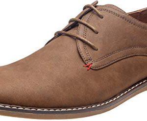 JOUSEN Men's Oxford Suede Business Casual Dress Shoes Plain Toe Oxfords Classic