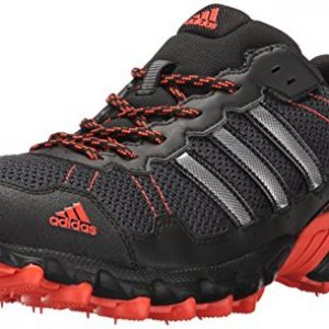 adidas Men's Rockadia Trail M Running Shoe, Black/Black/Energy