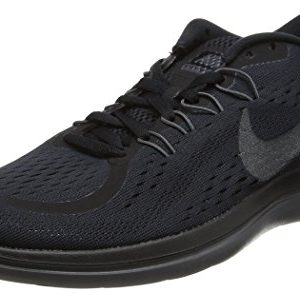 Nike Womens Free RN Low Top Lace Up Walking Shoes, Black