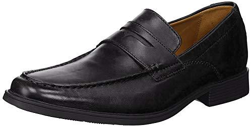 Clarks Men's Tilden Way Penny Loafer, Black Leather