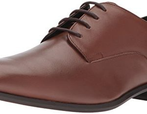 Calvin Klein Men's Lucca Oxford, Tan Napa Calf