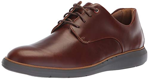 Clarks Men's Un VoyagePlain Oxford, Mahogany Leather