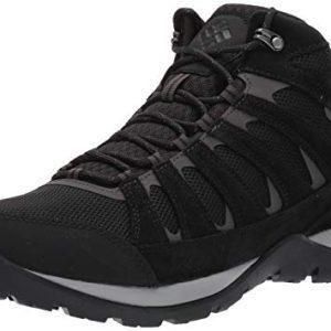 Columbia Men's Redmond V2 MID Waterproof Boot, Black, Dark Grey