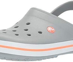 Crocs Crocband Clog, Light Grey/Bright Coral, 4 US Men/ 6 US Women M US
