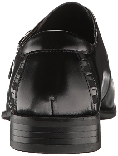 STACY ADAMS Men's Macmillian-Cap Toe Monk Strap Slip-On Loafer CLASSIC STYLE: Cap-toe monk-strap slip-on with elastic on strap for easy entry and stitch detail on cap-toe and heel counter COMFORT: Fully cushioned memory foam insole for superior padded cushy comfort and shock absorption DURABILITY: Lightweight construction with extended durability with breathable linings QUALITY SOLE: Flexible sole with increased traction on midfoot and heel PERFECT FIT: Fit tip - If in between two sizes go for larger size Cap[ toe monk strap