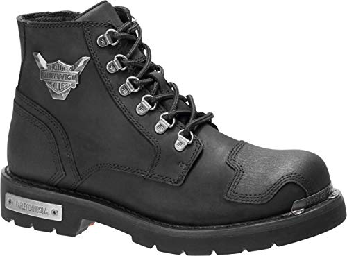 HARLEY-DAVIDSON FOOTWEAR Men's Daleview Motorcycle Boot, Black, 09.5 M US