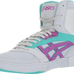 ASICS International Lyte Mens Wrestling Shoes, Glacier Grey/Orchid/Atlantis