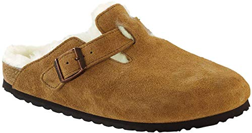 Birkenstock Unisex Boston Shearling Clog, Mink/Natural, Size 38 EU (7-7.5 M US Women)
