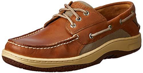 Sperry Mens Billfish 3-Eye Boat Shoe, Dark Tan