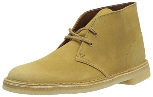 CLARKS Men's Desert Chukka Boot, Oak Suede