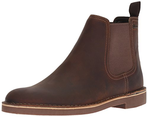 Clarks Men's Bushacre Hill Chelsea Boot, Beeswax Leather