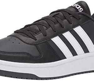 adidas Men's Hoops 2.0 Sneaker, Black