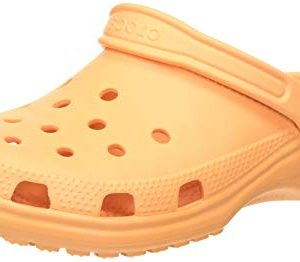Crocs Classic Clog | Comfortable Slip on Casual Water Shoe, cantaloupe