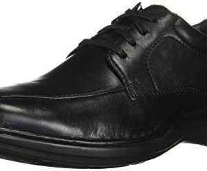 Clarks Men's Kempton Run Oxford, Black Leather