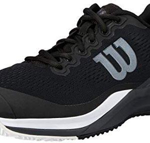 Wilson Footwear Men's Rush PRO 3.0 Tennis Shoes, Black/Ebony/White