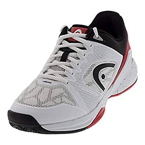 HEAD Men's Revolt Pro 2.5 Tennis Shoes (White/Red)