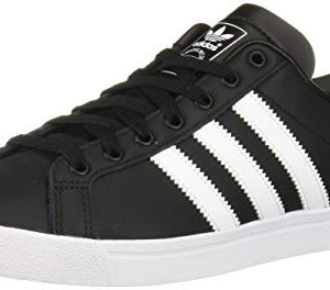 adidas Originals Men's Coast Star Sneaker, Black, White, Black